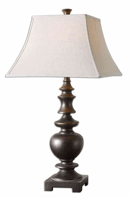Verrone Bronze Table Lamp with Detailing in Gold Brand Uttermost