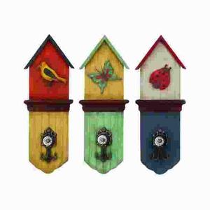 Versatile Use Metal Wall Hook with Three Colors 3 Assorted Brand Woodland