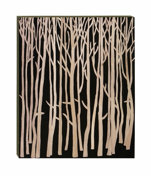 Versatile Wood Wall Plaque in Dark Brown Finish with Detailing Brand Woodland