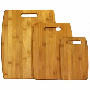Versitile 3-Piece Bamboo Cutting Board Set by Oceanstar