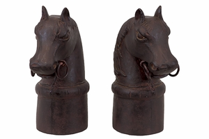 Vertigo's Alluring Resin Horse Bookend Set Of Two