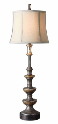 Vetralla Buffet Lamp with Crackled Dark Bronze Foot Brand Uttermost