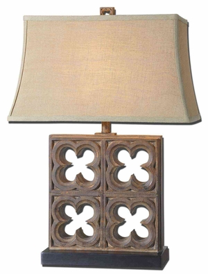 Vettore Bronze Table Lamp with Copper Undertones Brand Uttermost