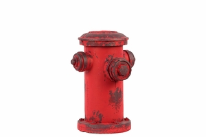 Vibrant Red Firefighting Antique Hydrant
