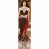 Vibrantly Painted Red Dress Model Masterpiece by Yosemite Home Decor