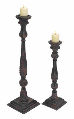 Victoria Fascinating Constructive Candle Holder Set Brand Benzara