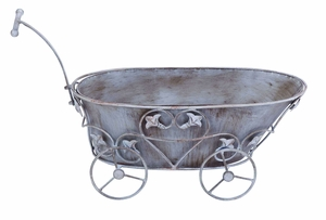 Victorian Baby Buggy Themed Planter For Potted Plants Brand Woodland