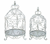 Victorian Bird Cage Shaped Standing Planters Set For Your Plants Brand Woodland