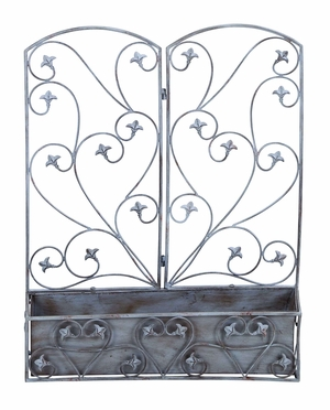 Victorian Climbing Vine Wall Planter For Double Potted Plants Brand Woodland
