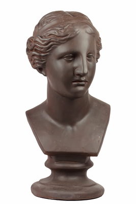 Victorian Smart Fiberstone Woman Bust Sculpture
