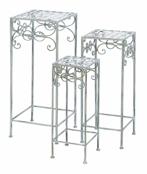 Victorian Square Standing Plant Stand For Your Potted Plants Brand Woodland