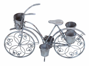 Classic Style Bicycle Planter For Your Potted Plants - 68767 by Benzara