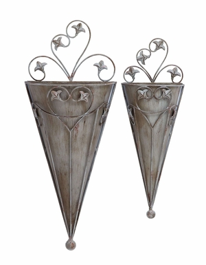 Victorian Style Cone Shaped Wall Planter For Your Potted Plants Brand Woodland