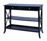 Vieana Wooden Console Table in Black Finish Brand Woodland