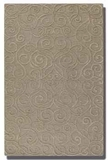 """Vienna Dark Taupe 16"""" Rug with Cut Pile with Raised Scroll Detail Brand Uttermost"""
