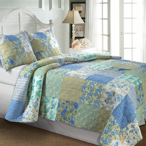 Vintage Jade Quilt King 3 Pcs Bedspread Set 105X95 Brand Greenland Home fashions