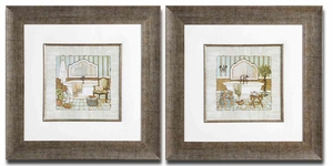 Vintage Luxe Frame Art with Silver Leaf Base - Set of 2 Brand Uttermost
