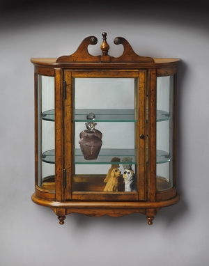 "Vintage Oak Wall Curio 21""W by Butler Specialty"