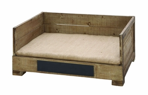 Vintage Style Handmade Pet Bed Box With Solid Wood Brand Woodland