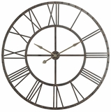 Vintage Styled Aged Steel Finish Upton Clock by Cooper Classics