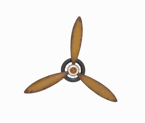 Vintage Themed Classy Metal Propeller Wall Decor Brand Benzara