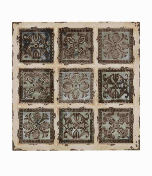 British Styled Metallic Wall Plaque - 55507 by Benzara
