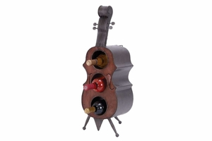 Violin Metal Wine Holder, 26 Inch Height, 9 Inch Width Brand Woodland