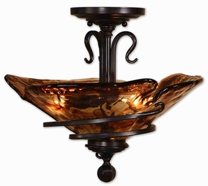 Vitalia Semi Flush Mount With Oil Rubbed Bronze Brand Uttermost