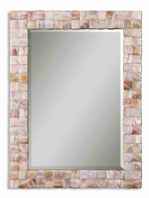 Vivian Modern Mirror with Genuine Mother Of Pearl Frame Brand Uttermost