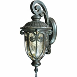 Viviana Collection Modish Stylized 1 Light Exterior Light Wall Mount in Oil -Rubbed Bronze by Yosemite Home Decor