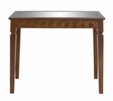 Vivid Color Combination Wooden Console Table with Wooden Frame Brand Woodland