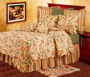 Vivienne Cotton Quilt Luxury Os Queen Bedding Ensembles Brand C&F