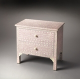 "Vivienne Pink Bone Inlay Accent Chest 29""W by Butler Specialty"