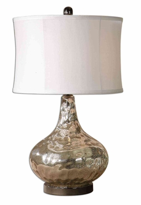 Vizzini Glass Table Lamp with Black Nickel Detailing Brand Uttermost