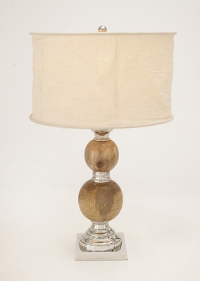 Vogue Aluminum Wood Table Lamp by Woodland Import