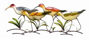 Walking Birds Discount Metal Wall Decor Sculpture Brand Woodland