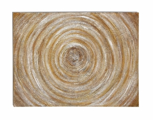 Wall Decor Canvas Art Features a Spiral Design Sculpture Brand Woodland