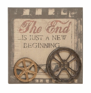 Wall Decor Wall Art Features Wood Frame & Film Reels Design Brand Woodland