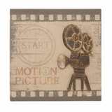 Wall Decor Wall Art has Wood Frame & Antique Film Camera Design Brand Woodland