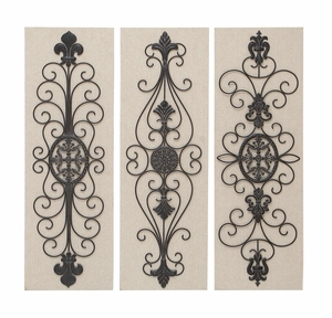 Wall Emblems - Intricate Laced Metal Wall Emblems - Set of 3 Brand Woodland