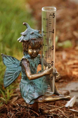 Wall Mounted Fairy With Rain Gauge For Fantasy Lovers Brand SPI-HOME
