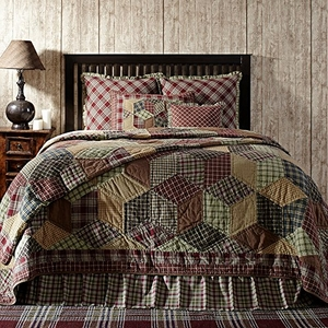 Warm in Winter Jackson Luxury King Quilt by VHC Brands