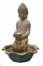Water Fountain _ Kneeling Buddha Tabletop Fountain Brand Domani