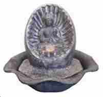 Water Fountain _ Sitting Buddha On Shell Tabletop Fountain Brand Domani