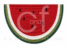 Watermelon Placemat, 12 Inch X 20 Inch, Fruit Placemat, Dining Decor Brand C&F