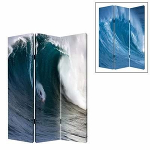 Wave 3 Panel Screen Crafted with Intricate Detailing on Canvas Brand Screen Gem