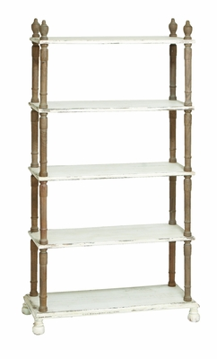 "Weather Resistant Five Tier Wooden Shelf 75"" Height Brand Woodland"