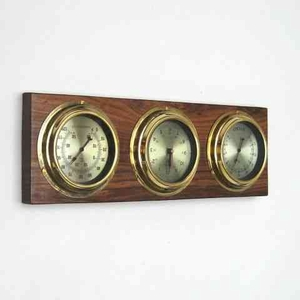Weather Station Brass A Year Around Purposeful Wall Plaque Brand IOTC
