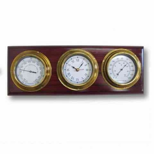 Weather Station Purposeful Wall Decor Over A Horizontal Wood Plank Brand IOTC