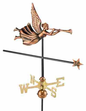Weather Vane - Charming Angel Weathervane For Your Roof Brand Good Direction